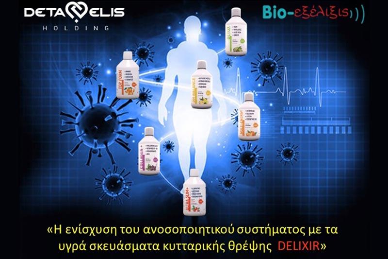 DeLixir – Συμπληρώματα διατροφής για έξυπνη κυτταρική θρέψη.